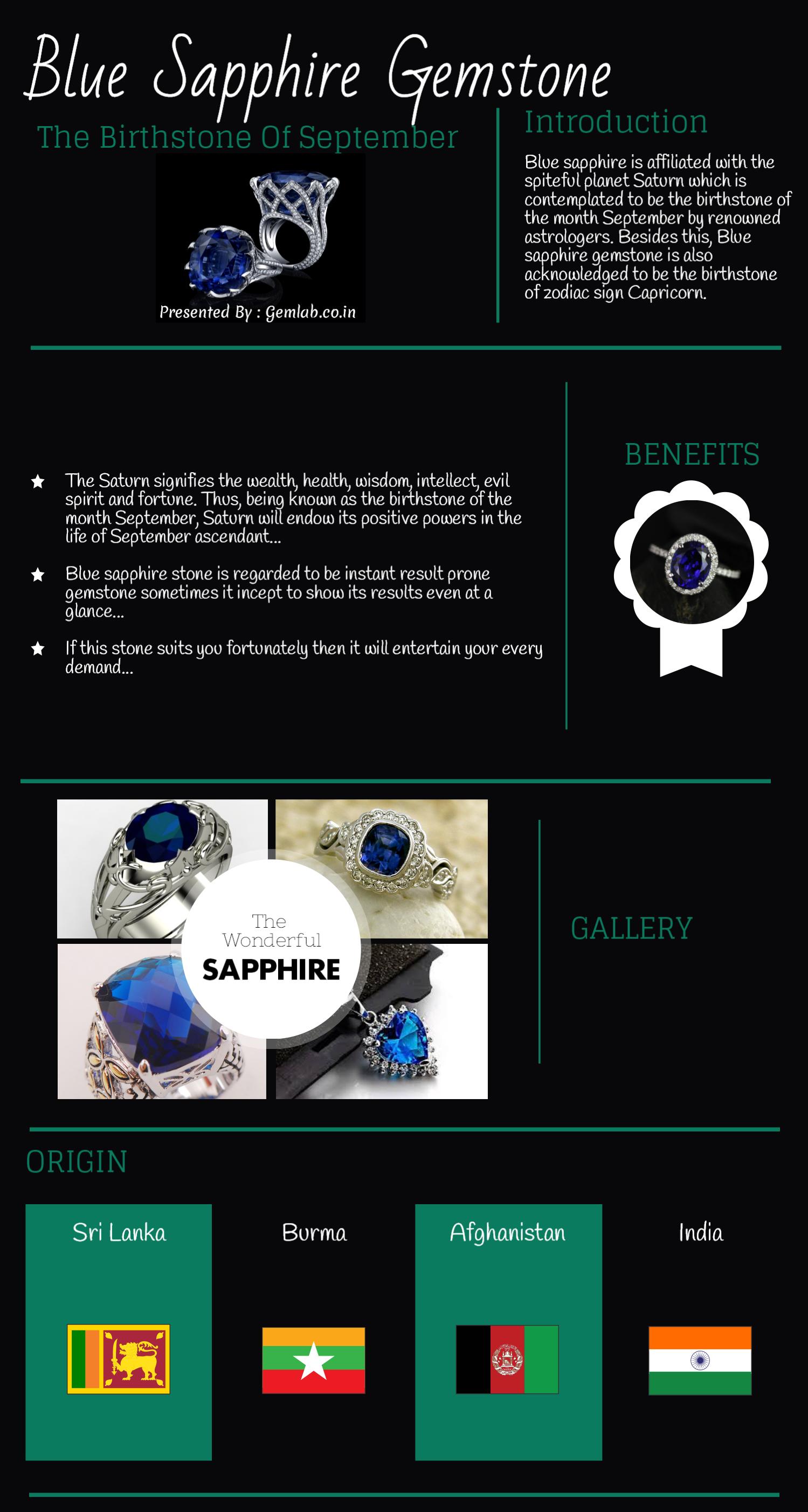 Blue Sapphire The Birthstone of September