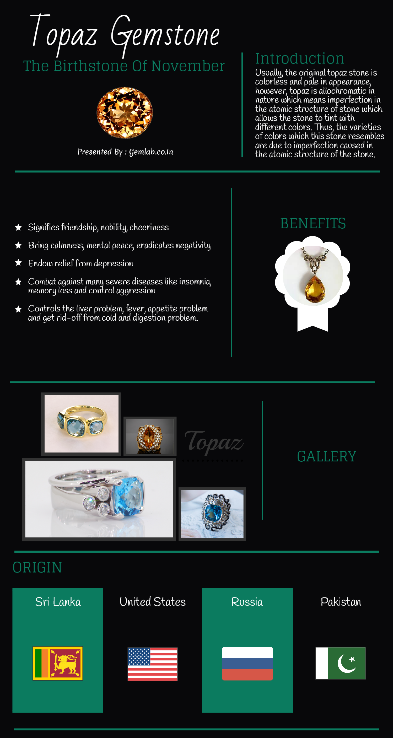 Topaz The Birthstone of November