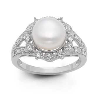 Pearl stone ring